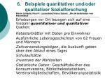6 beispiele quantitativer und oder qualitativer sozialforschung50