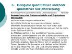 6 beispiele quantitativer und oder qualitativer sozialforschung51