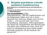 6 beispiele quantitativer und oder qualitativer sozialforschung53