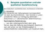 6 beispiele quantitativer und oder qualitativer sozialforschung55