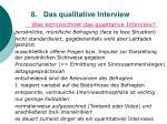 8 das qualitative interview