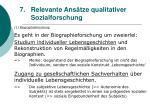 relevante ans tze qualitativer sozialforschung59