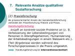 relevante ans tze qualitativer sozialforschung63