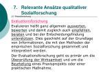 relevante ans tze qualitativer sozialforschung66