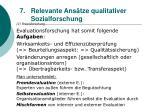 relevante ans tze qualitativer sozialforschung67