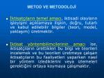 metod ve metodoloj7