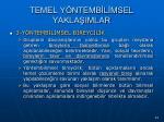 temel y ntemb l msel yakla imlar73