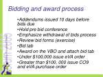 bidding and award process