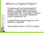 what is a capital project