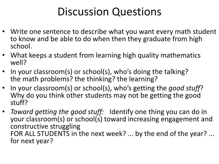 discussion questions n.