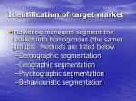 identification of target market