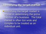 identifying the target market