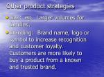 other product strategies