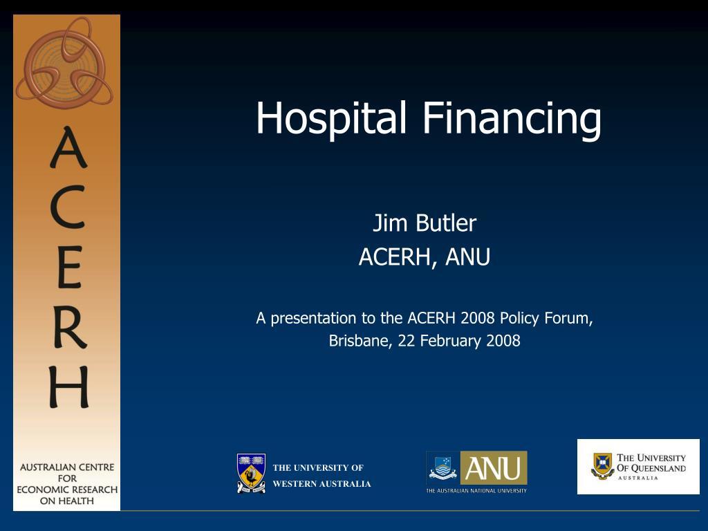 hospital financing l.