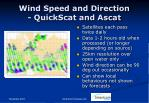 wind speed and direction quickscat and ascat