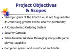 project objectives scopes