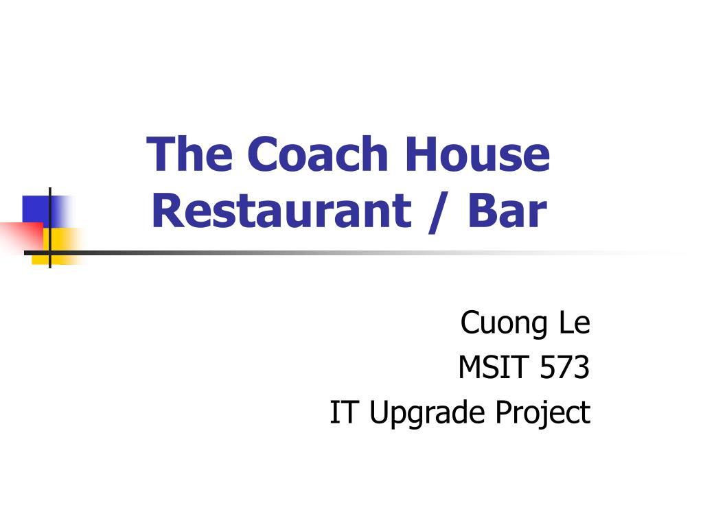 the coach house restaurant bar l.
