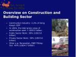 overview on construction and building sector