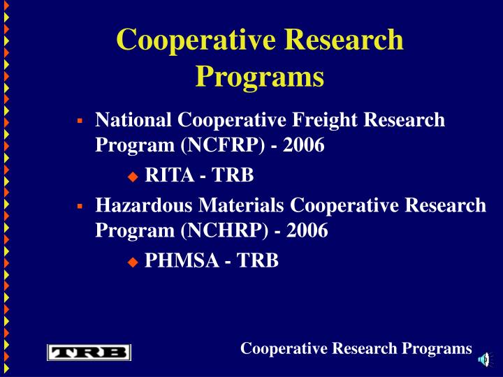 Cooperative research programs3