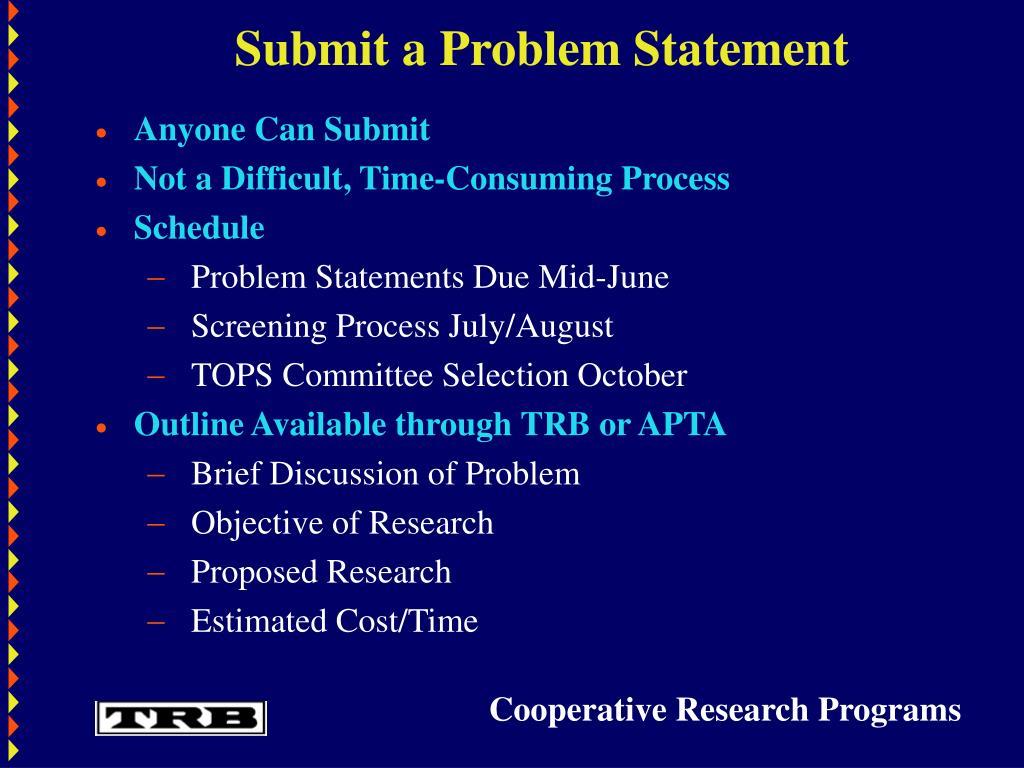 Submit a Problem Statement