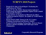 tcrp fy 2010 projects26