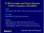 tcrp oversight and project selection tops committee eff 6 28 09