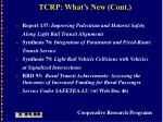 tcrp what s new cont