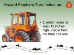 hazard flashers turn indicators
