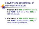 security and consistency of new transformation