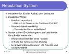 reputation system