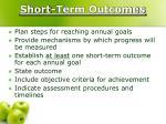 short term outcomes