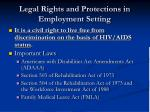 legal rights and protections in employment setting