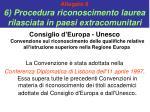 allegato 8 6 procedura riconoscimento laurea rilasciata in paesi extracomunitari