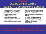 allegato 8 quattro principi cardine sezione iii convenzione di lisbona