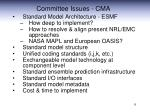 committee issues cma