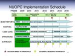 nuopc implementation schedule