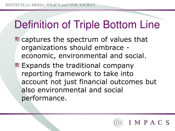 triple bottom line definition