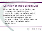 definition of triple bottom line