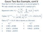 gauss two bus example cont d8