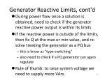 generator reactive limits cont d