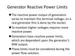 generator reactive power limits
