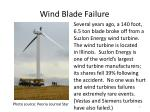 wind blade failure