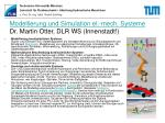 modellierung und simulation el mech systeme dr martin otter dlr ws innenstadt