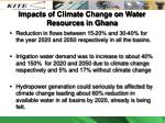 impacts of climate change on water resources in ghana