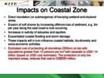 impacts on coastal zone