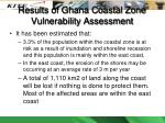 results of ghana coastal zone vulnerability assessment