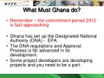what must ghana do