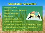 stakeholder committee