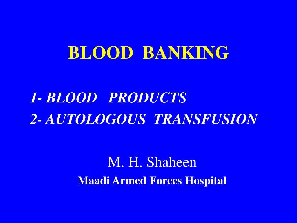 blood banking l.