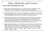 data methods and caveats